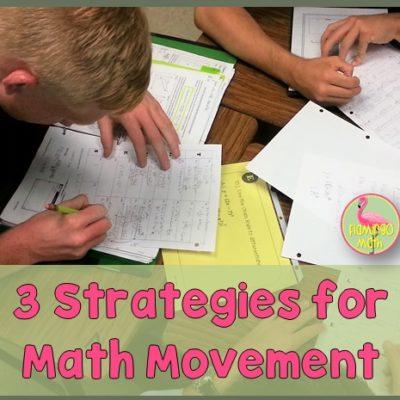3 Strategies for Math Movement